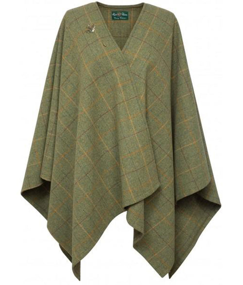 Alan Paine Compton Ladies Tweed Wrap - Landscape
