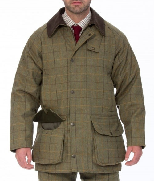 Alan Paine Rutland Shooting Coat - Dark Moss