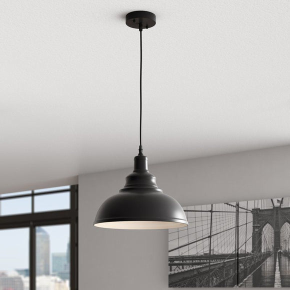 Girouard 1-Light Inverted Pendant-Black