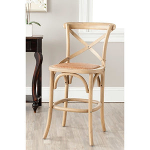 "Carterville 24.4"" Bar Stool-Weathered Oak"