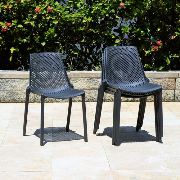 Claudio Stacking Patio Dining Chair (set of 4) from Wayfair