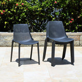 Claudio Stacking Patio Dining Chair (set of 4)