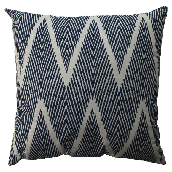 Cotton Chevron Throw Pillow - Navy