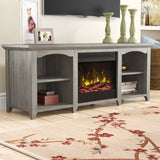 "Danforth TV Stand for TVs up to 60"" with Fireplace Included"
