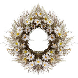 Faux Daisy Silk Wreath from Wayfair