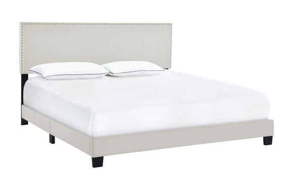 Hillenbrand Upholstered Standard Bed-King-Fog