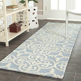Marlen Hand-Tufted Wool Light Blue/Ivory Area Runner Rug