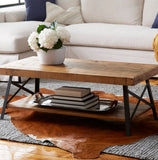 Kinsella Coffee Table with Storage-Natural Pine Brown