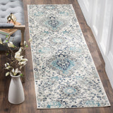 "Katie Damask Cream/Light Gray Area Rug-2'3"" x20'"