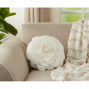 Montrose Floral Round Throw Pillow - Ivory