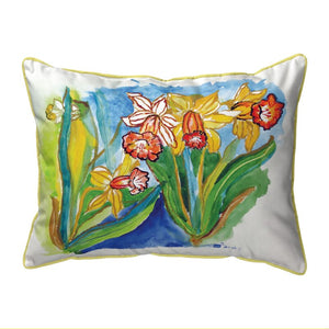Daffodils Indoor/Outdoor Lumbar Pillow-Large