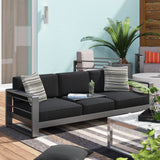 Royalston Patio Sofa with Cushions