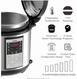 COSORI 6 Quart 8-in-1 Multi-Functional Programmable Pressure Cooker, Slow Cooker, Rice Cooker, Steamer, Saute, Yogurt Maker, Hot Pot and Warmer, Full Accessories Included,Stainless Steel