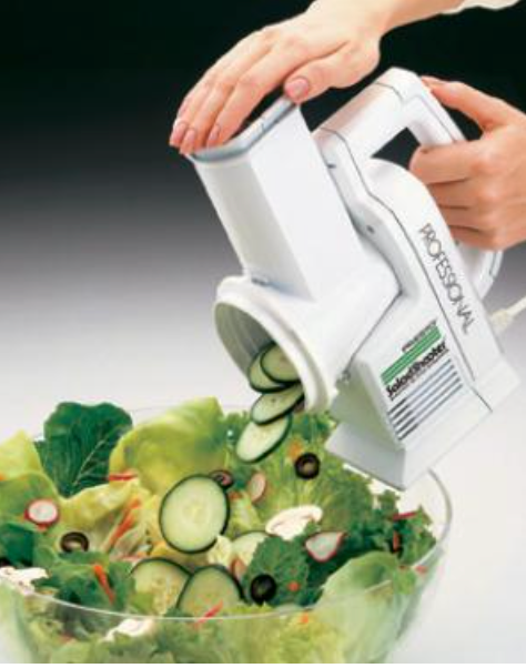 Presto 02970 Pro Salad Shooter & Electric Food Slicer Shredder 114W, Point & Shoot vegetables fruits cheese nuts, for great salads soups pizzas tacos