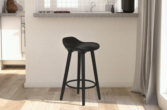 DHP Odessa Modern dining Counter Stool, Black