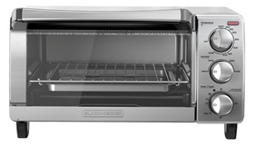 Black & Decker 4-Slice Toaster Oven, Stainless Steel with Natural Convection
