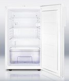20 Inch Freestanding Compact All-Refrigerator with Crisper Drawer, Reversible Door, Adjustable Wire Shelves, Factory Installed Lock, Automatic Defrost, Interior Light, 100% CFC Free, Flat Door Liner and 4.1 cu. ft. Capacity