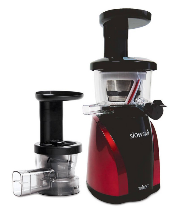 Tribest Slowstar SW-2000-B Vertical Slow Juicer and Mincer, Red