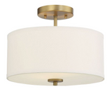 Trade Winds Cassie 2-Light Ceiling Light in Natural Brass