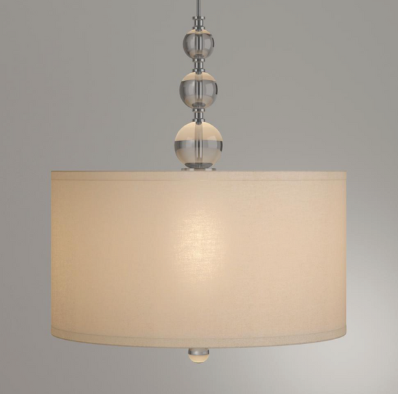 Laurel Hill 3-Light Brushed Nickel Pendant with Opal Glass Shades and Glass Ball Accents