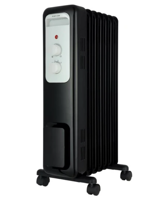 1,500-Watt Oil-Filled Radiant Electric Space Heater With Thermostat