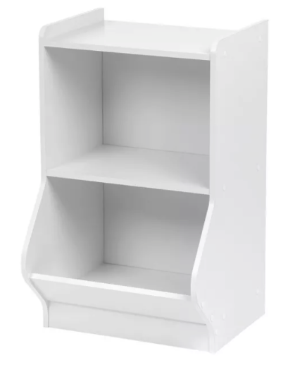 IRIS 2 Tier Storage Shelves with Footboard White