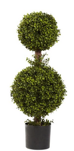 35 in. Double Boxwood Topiary