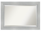 Romano 51.5 in. W x 31.5 in. H Framed Rectangular Bathroom Vanity Mirror in Burnished Silver