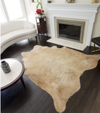 Lettie Animal Print Cowhide Tan Area Rug