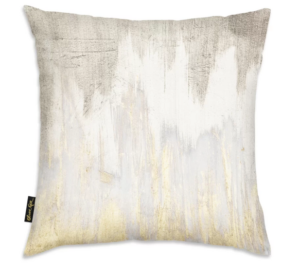 German Silver Gold Agate Throw Pillow