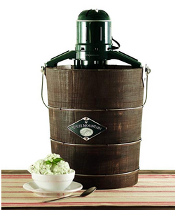 White Mountain Appalachian Series Wooden Bucket Electric Ice Cream Maker, 4-Quart (PBWMIME412-SHP)