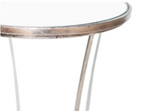 Channing Accent Table, Silver Leaf