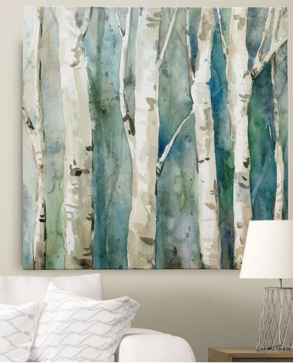 River Birch II Painting Print on Wrapped Canvas 32