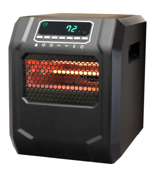 Life Zone Series 1500-Watt 6-Element Quartz Infrared Heater with Metal Cabinet