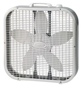 "20"" WHITE 3-SPEED PORTABLE BOX FAN 3"