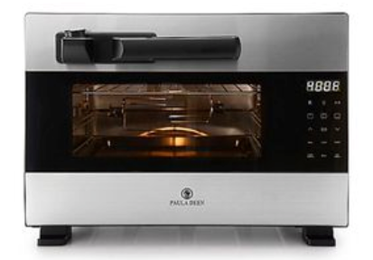 Paula Deen 1600W Digital Pre-Programmed Countertop Pressure Oven with/ Electronic Release, Stainless Steel
