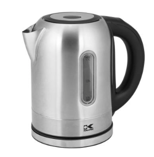 KALORIK 7-Cup Stainless Steel Electric Kettle with Temperature Control
