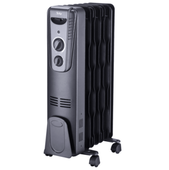 Sai 1,500-Watt Portable Oil-Filled Radiator Heater, Black