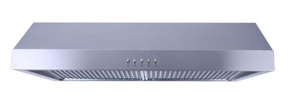Presenza 30in. Under Cabinet Ducted Range Hood, Stainless Steel