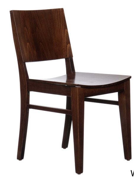 Zinab Solid Walnut Side Chairs (set of 2)
