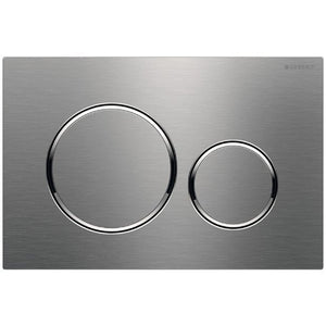 Geberit Geberit 115.882.ID.1 Actuator Plate Sigma20 For Dual Flush in Brushed Nickel Zoom  Geberit 115.882.ID.1 Actuator Plate Sigma20 For Dual Flush in Brushed Nickel