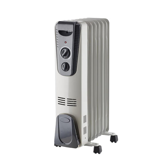 SAI 1500-Watt Electric Oil-Filled Radiant Portable Heater in Grey