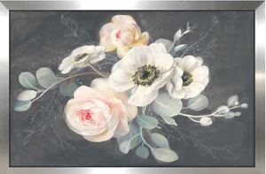 'Roses and Anemones' Acrylic Painting Print