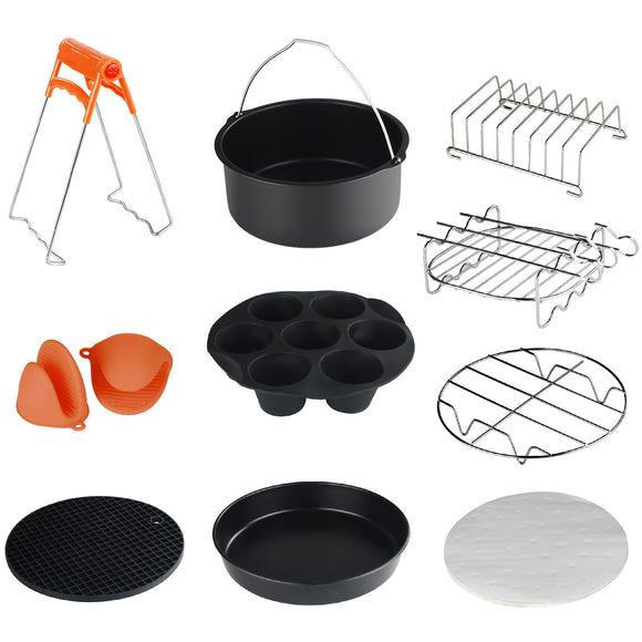 Universal XL 10-Piece AirFryer Accessory Set GoWISWE USA