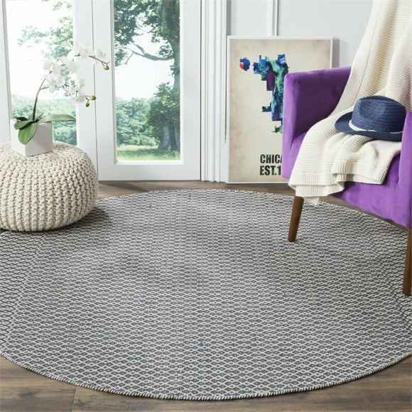 Oxbow Hand-Woven Ivory/Navy Area Rug