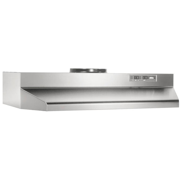 Broan 42000 Series 36 in. Under Cabinet Range Hood with Light in Stainless Steel