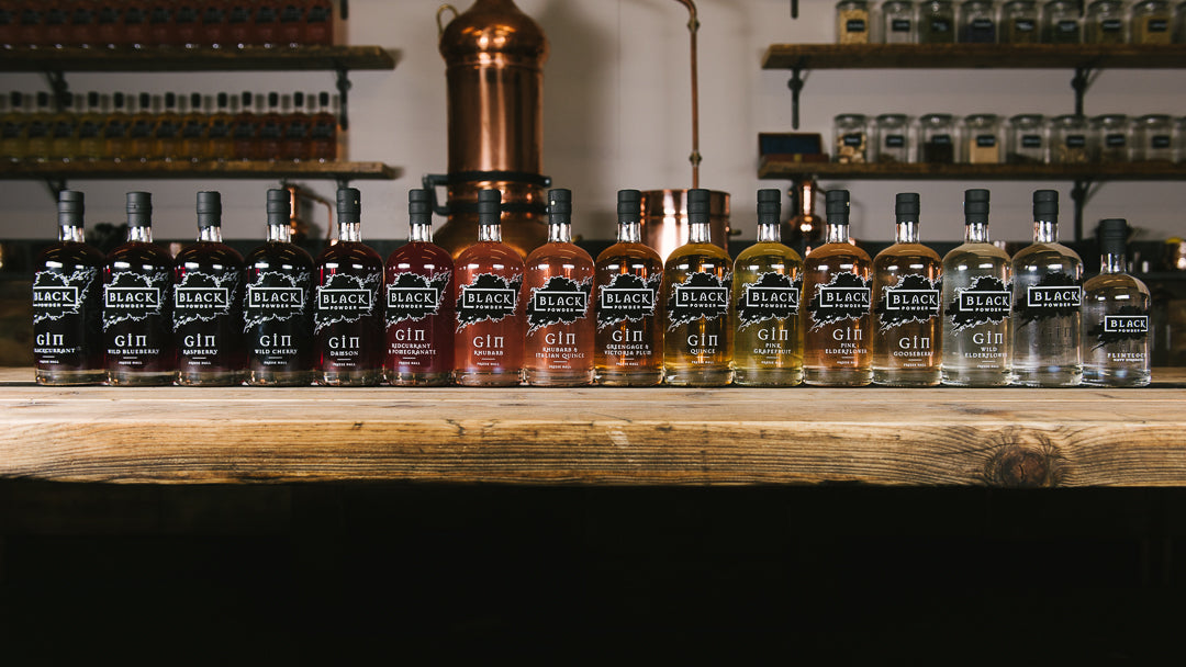 Vintage Gin Range available in original Black Powder branding