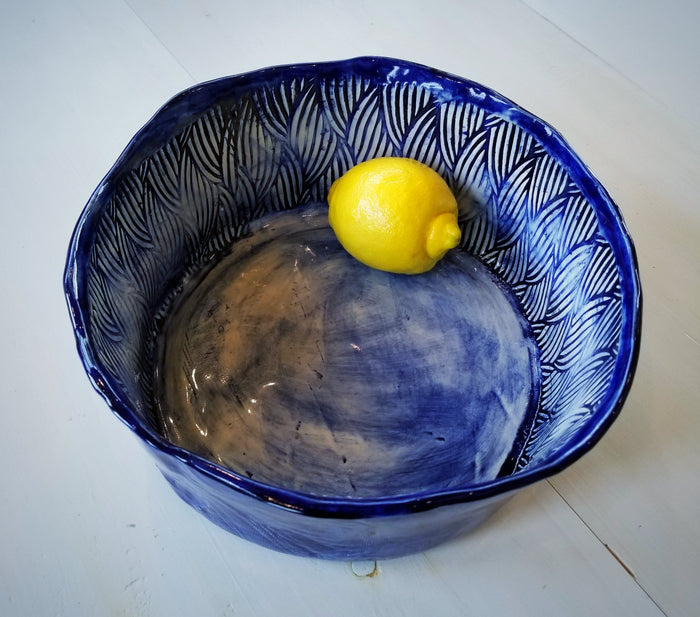 JRN- Dark Denim Basket Bowl