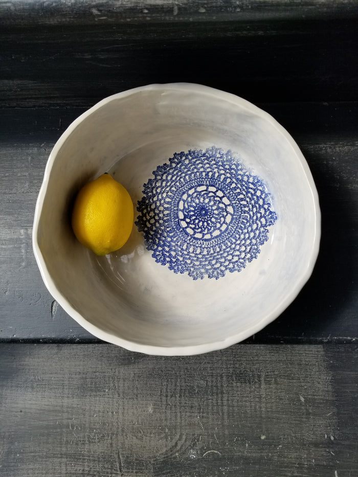 JRN - Deep Blue Crochet Bowl