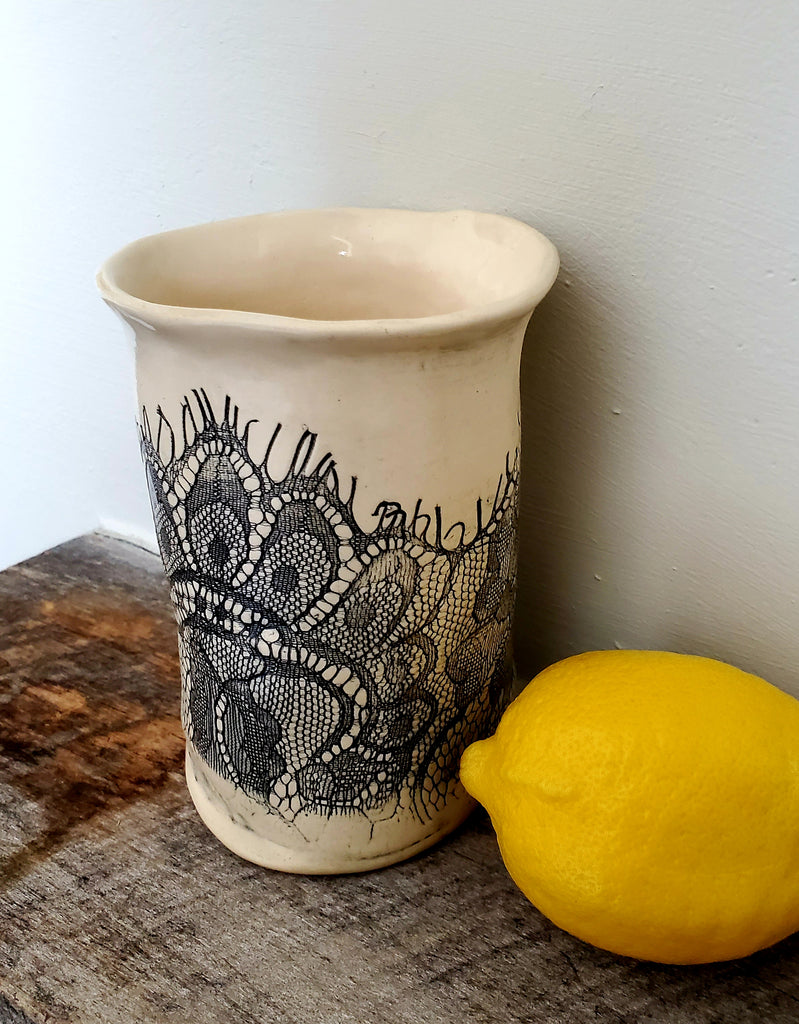 JRN- Black Lacey Vessel